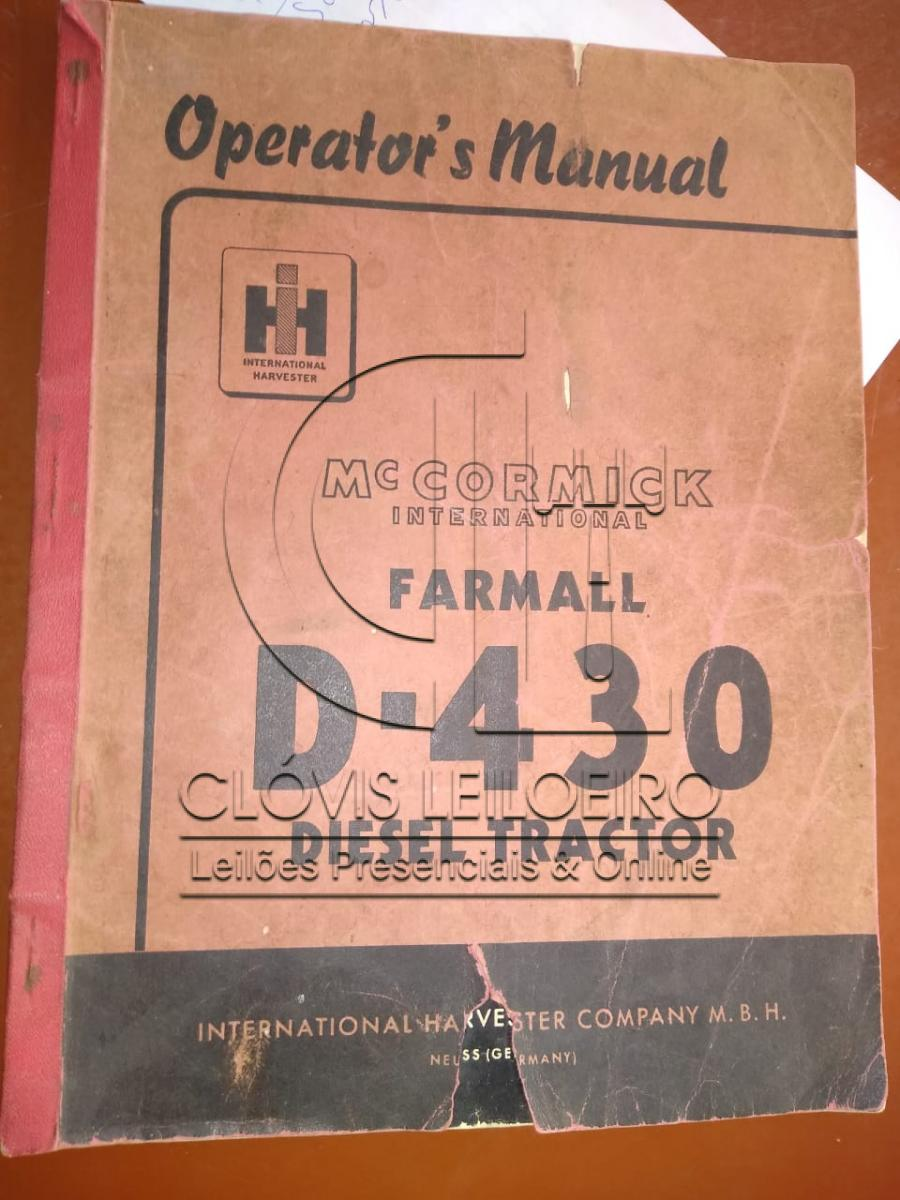 TRATOR INTERNACIONAL FARMALL D-430